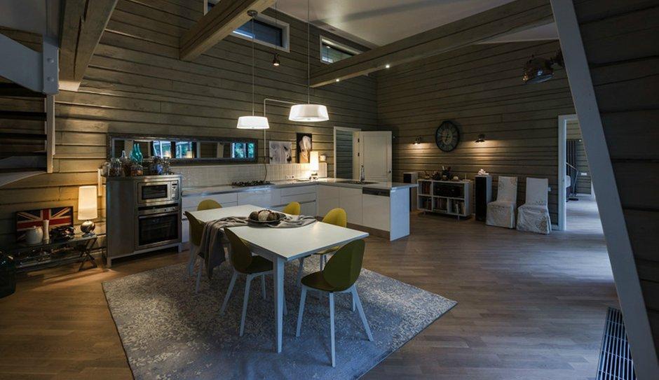 Фотография: Кухня и столовая в стиле , Дом, Дома и квартиры, Проект недели, Дача, dom-iz-brusa – фото на INMYROOM