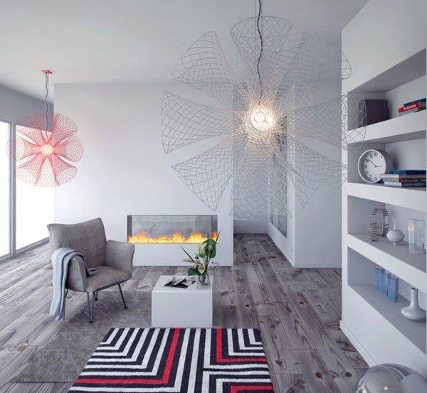 Фотография: Гостиная в стиле Эклектика, Декор интерьера, Дизайн интерьера, Цвет в интерьере, Серый – фото на INMYROOM