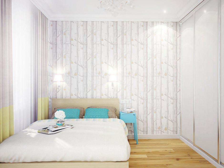 Фотография: Спальня в стиле Скандинавский, Современный, Квартира, Цвет в интерьере, Дома и квартиры, Белый, Проект недели – фото на INMYROOM