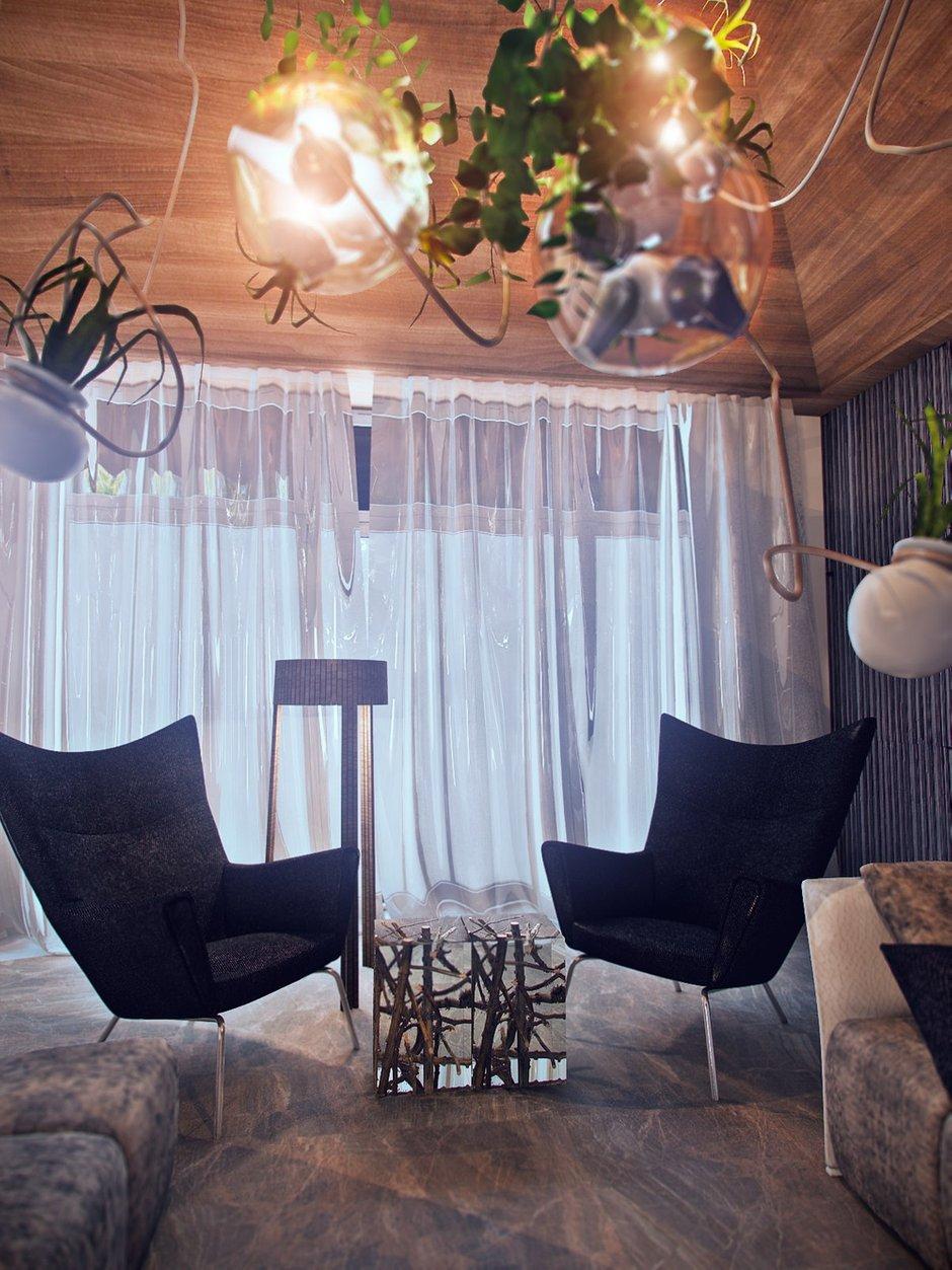 Фотография: Гостиная в стиле Лофт, Эклектика, Дом, Минимализм, Проект недели, Эко – фото на INMYROOM