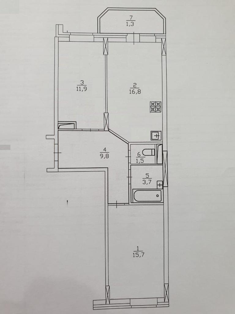 Фотография: Планировки в стиле , Квартира, Проект недели, Москва, 3 комнаты, 60-90 метров, Марьям Разуваева – фото на INMYROOM