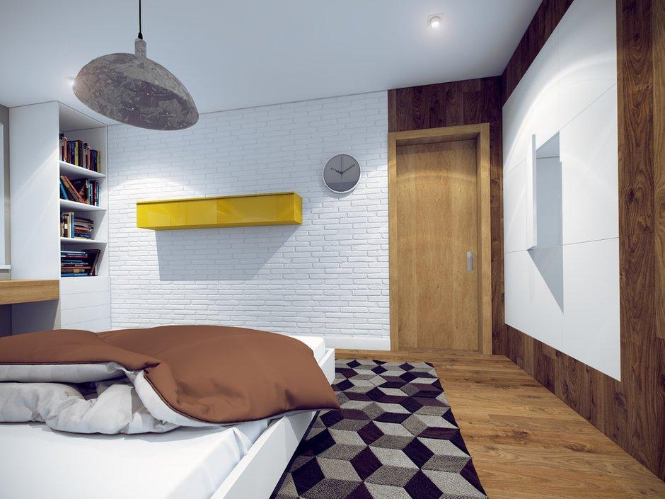 Фотография: Спальня в стиле Лофт, Современный, Квартира, Дома и квартиры, Москва – фото на INMYROOM