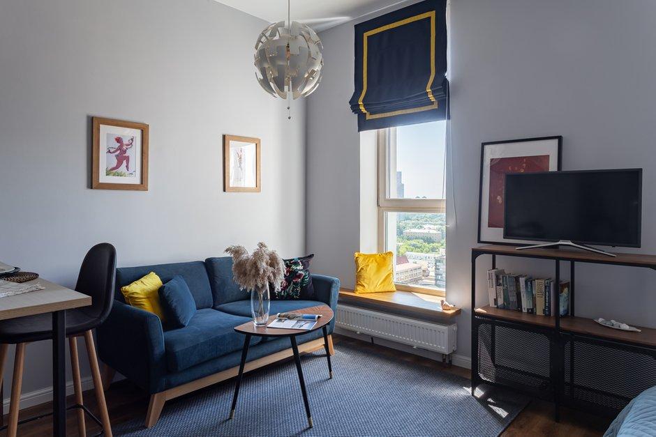 Фотография: Гостиная в стиле Современный, Малогабаритная квартира, Студия, Проект недели, Москва, до 40 метров – фото на INMYROOM