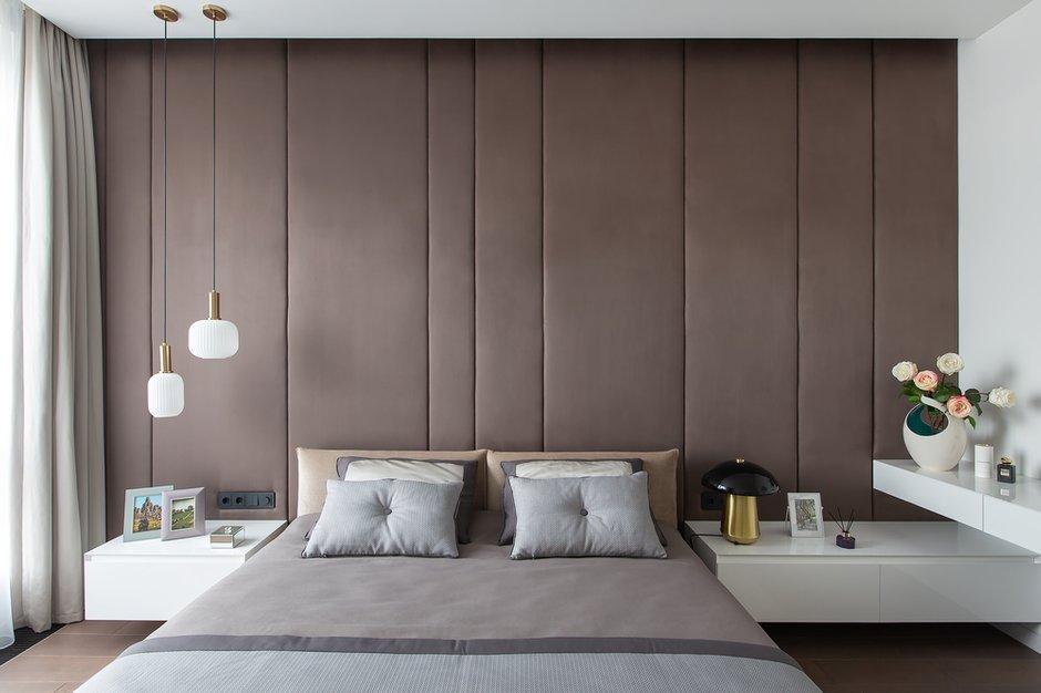 Фотография: Спальня в стиле Минимализм, Квартира, Проект недели, Москва, Филипп Киценко, 3 комнаты, Более 90 метров, ПРЕМИЯ INMYROOM – фото на INMYROOM