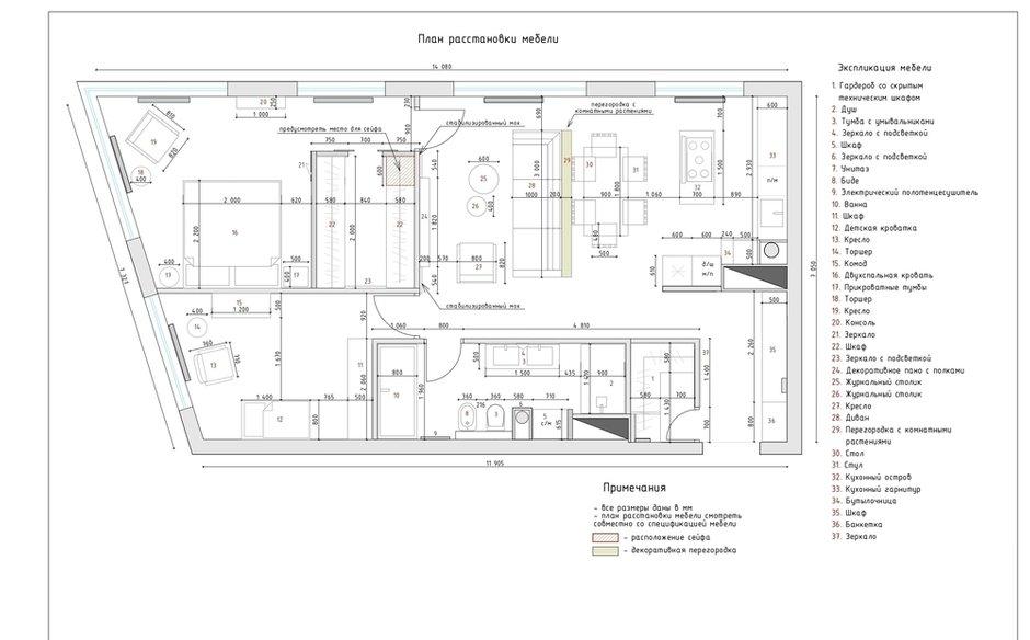 Фотография: Планировки в стиле , Современный, Квартира, Проект недели, Москва, 3 комнаты, 60-90 метров, Более 90 метров, Own Design – фото на INMYROOM