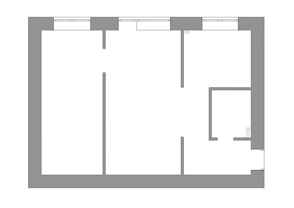 Изначальный план квартиры