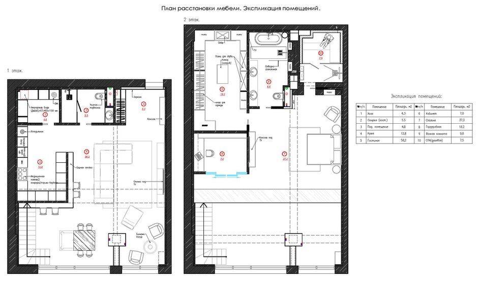 Фотография: Планировки в стиле , Лофт, Квартира, Проект недели, Москва, GM-Interior, 3 комнаты, Более 90 метров – фото на INMYROOM