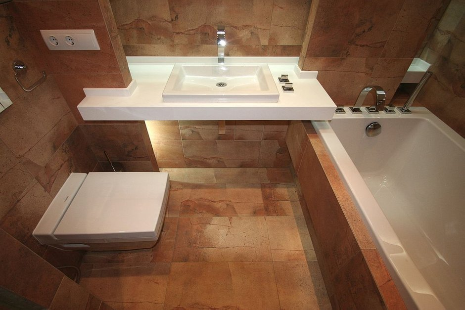 Фотография: Ванная в стиле Современный, Малогабаритная квартира, Интерьер комнат, Проект недели – фото на INMYROOM
