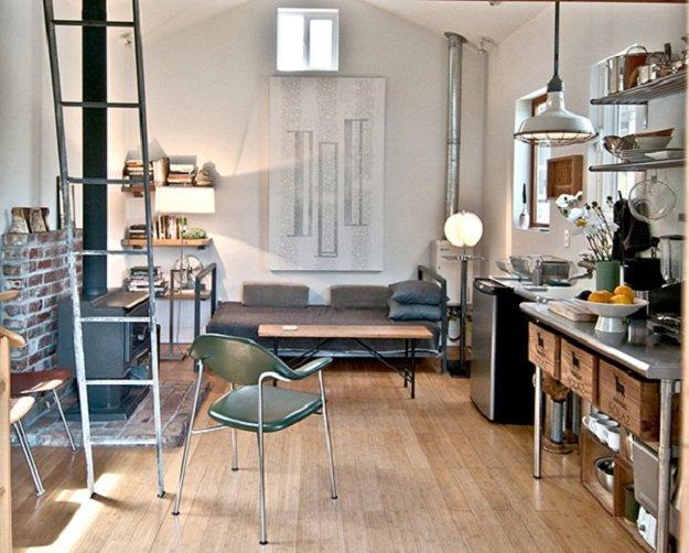 Фотография: Кухня и столовая в стиле Лофт, DIY, Малогабаритная квартира, Квартира, Дом, Дома и квартиры – фото на INMYROOM