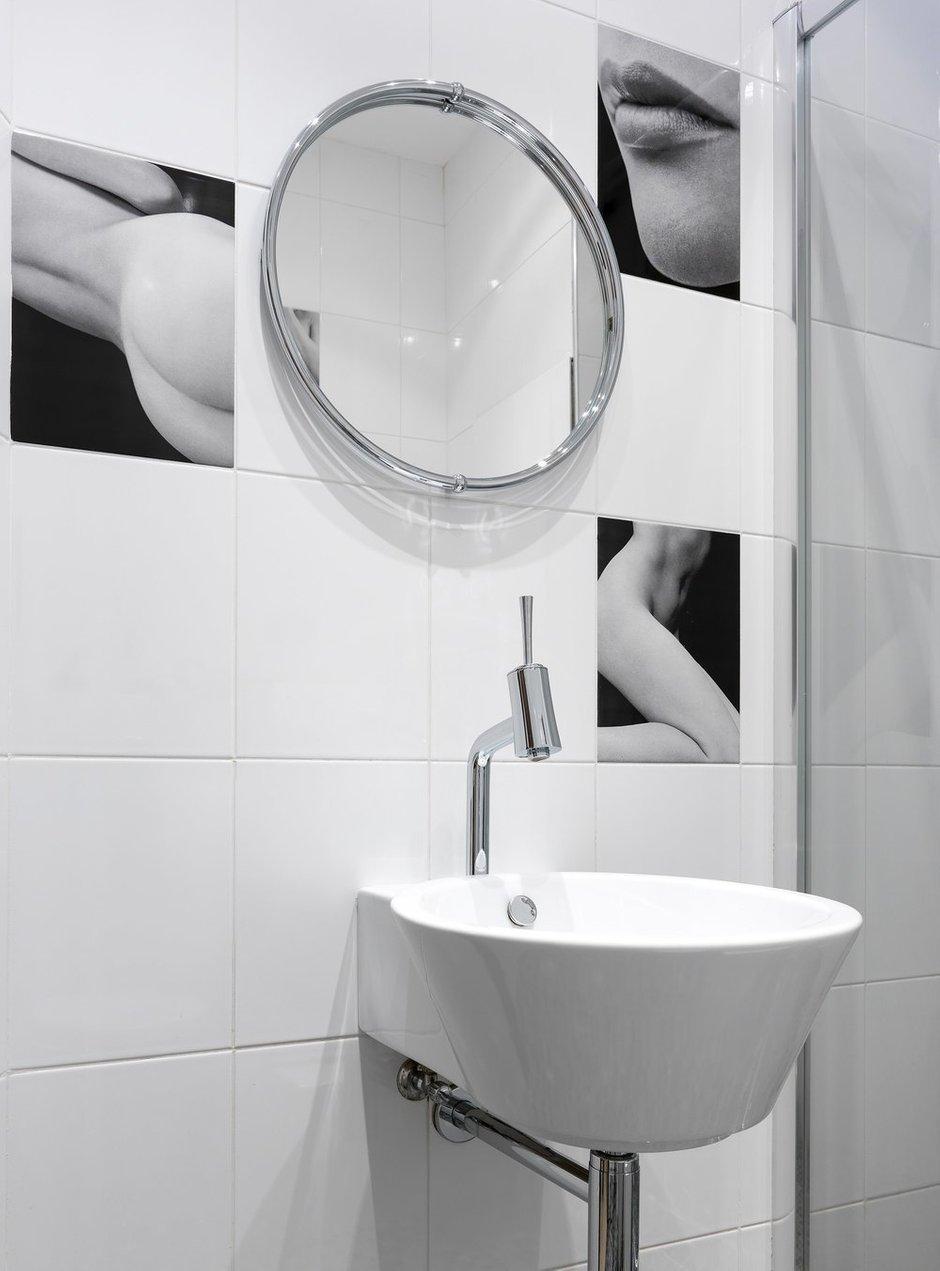Фотография: Ванная в стиле Современный, Квартира, Проект недели, Москва, Олеся Шляхтина, 4 и больше, Более 90 метров, Монолитно-кирпичный, #эксклюзивныепроекты – фото на INMYROOM