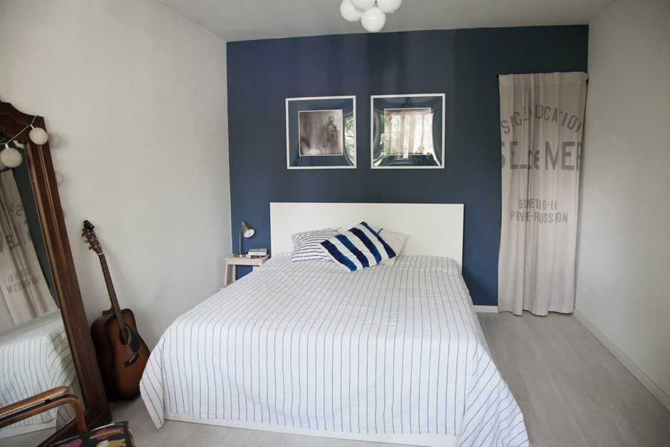 Фотография: Спальня в стиле Скандинавский, Квартира, Проект недели, двухкомнатная квартира, Герой InMyRoom, Казахстан, Хрущевка – фото на INMYROOM