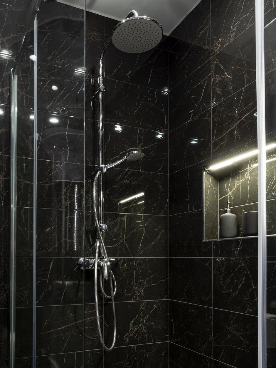 Фотография: Ванная в стиле Современный, Малогабаритная квартира, Квартира, Студия, Проект недели, Санкт-Петербург, до 40 метров, Любовь Уткина – фото на INMYROOM