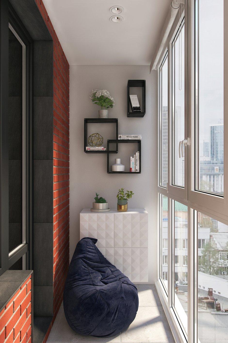 Фотография: Балкон в стиле Современный, Квартира, Проект недели, Москва, Geometrium, 3 комнаты, Более 90 метров, Монолитно-кирпичный, ЖК «Александр» – фото на INMYROOM