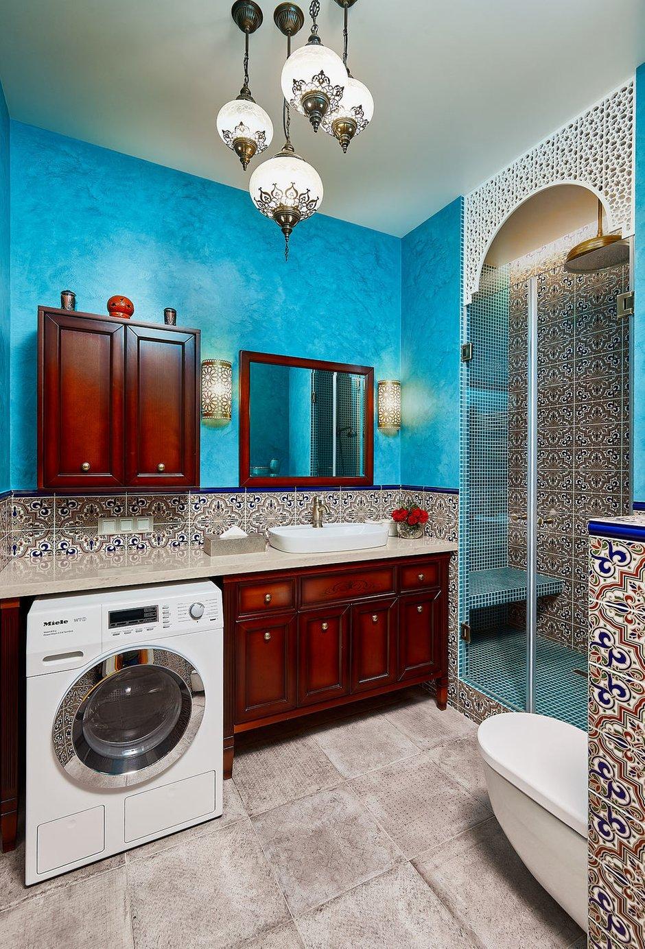 Фотография: Ванная в стиле Восточный, Эклектика, Квартира, Проект недели, Москва, 4 и больше, Более 90 метров, Бюро IVA – фото на INMYROOM