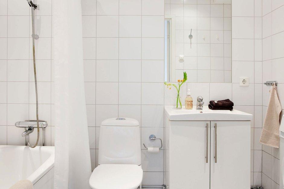 Фотография: Ванная в стиле Скандинавский, Квартира, Дома и квартиры – фото на INMYROOM