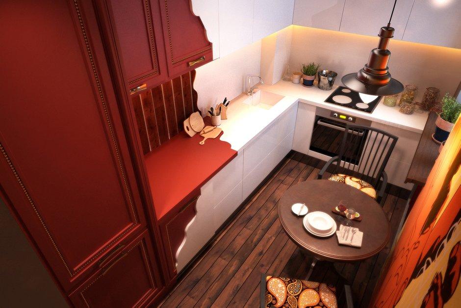 Фотография: Кухня и столовая в стиле Современный, Лофт, Квартира, Дома и квартиры – фото на INMYROOM