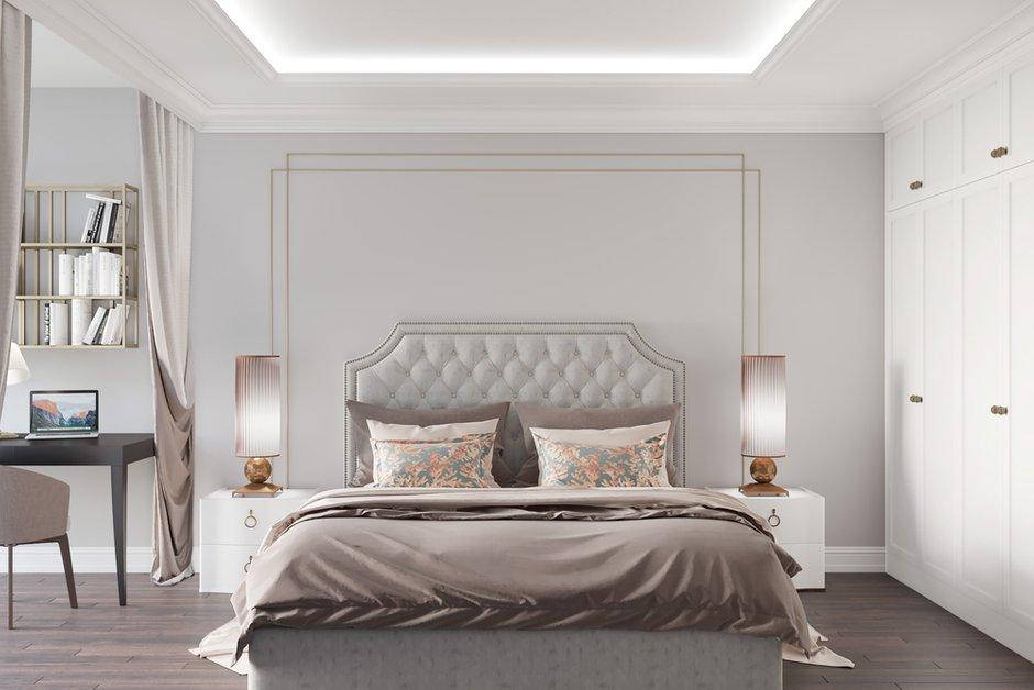 Фотография: Спальня в стиле Классический, Современный, Квартира, Проект недели, Москва, Монолитный дом, 3 комнаты, Более 90 метров, Тор-Ард – фото на INMYROOM
