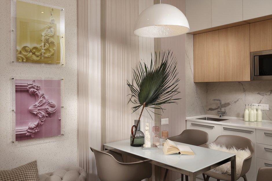Фотография: Кухня и столовая в стиле Эклектика, Современный, Малогабаритная квартира, Квартира, Проект недели, Москва, 1 комната, до 40 метров, Своя атмосфера – фото на INMYROOM