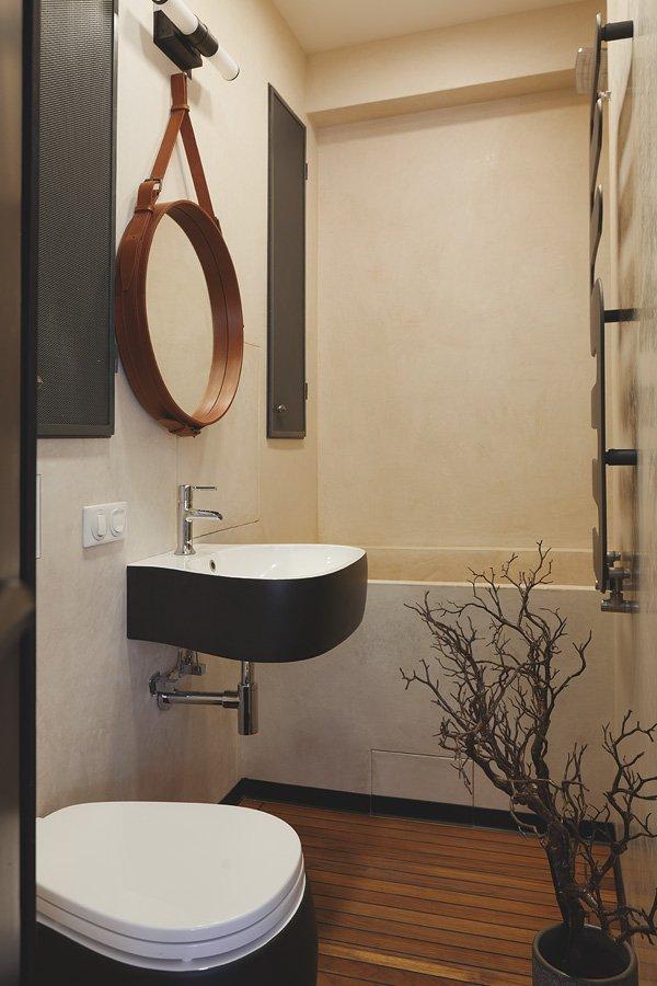 Фотография: Ванная в стиле Скандинавский, Лофт, Малогабаритная квартира, Квартира, Дома и квартиры, Проект недели, Надя Зотова – фото на INMYROOM