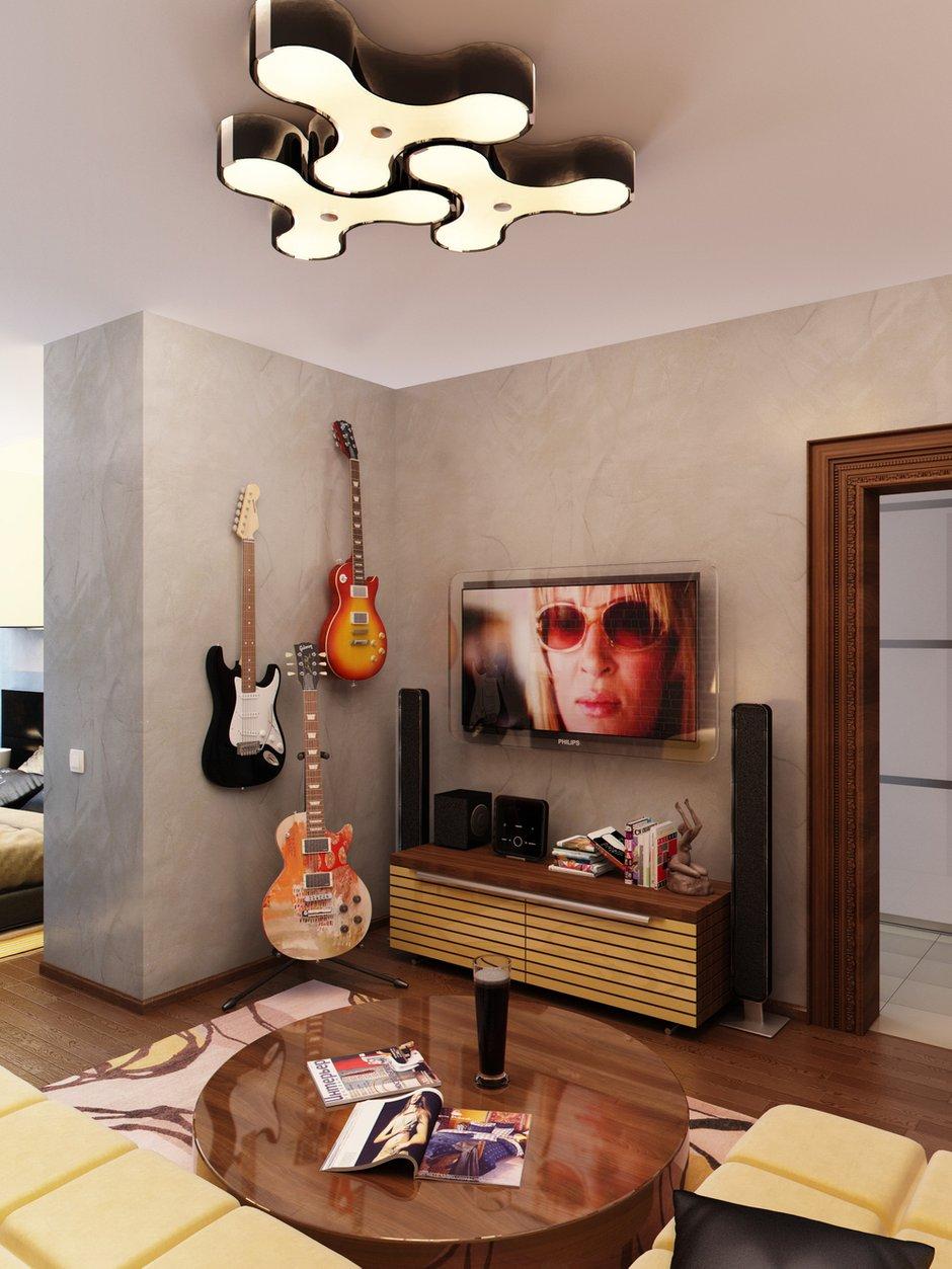 Фотография: Гостиная в стиле Современный, Лофт, Квартира, Проект недели – фото на INMYROOM