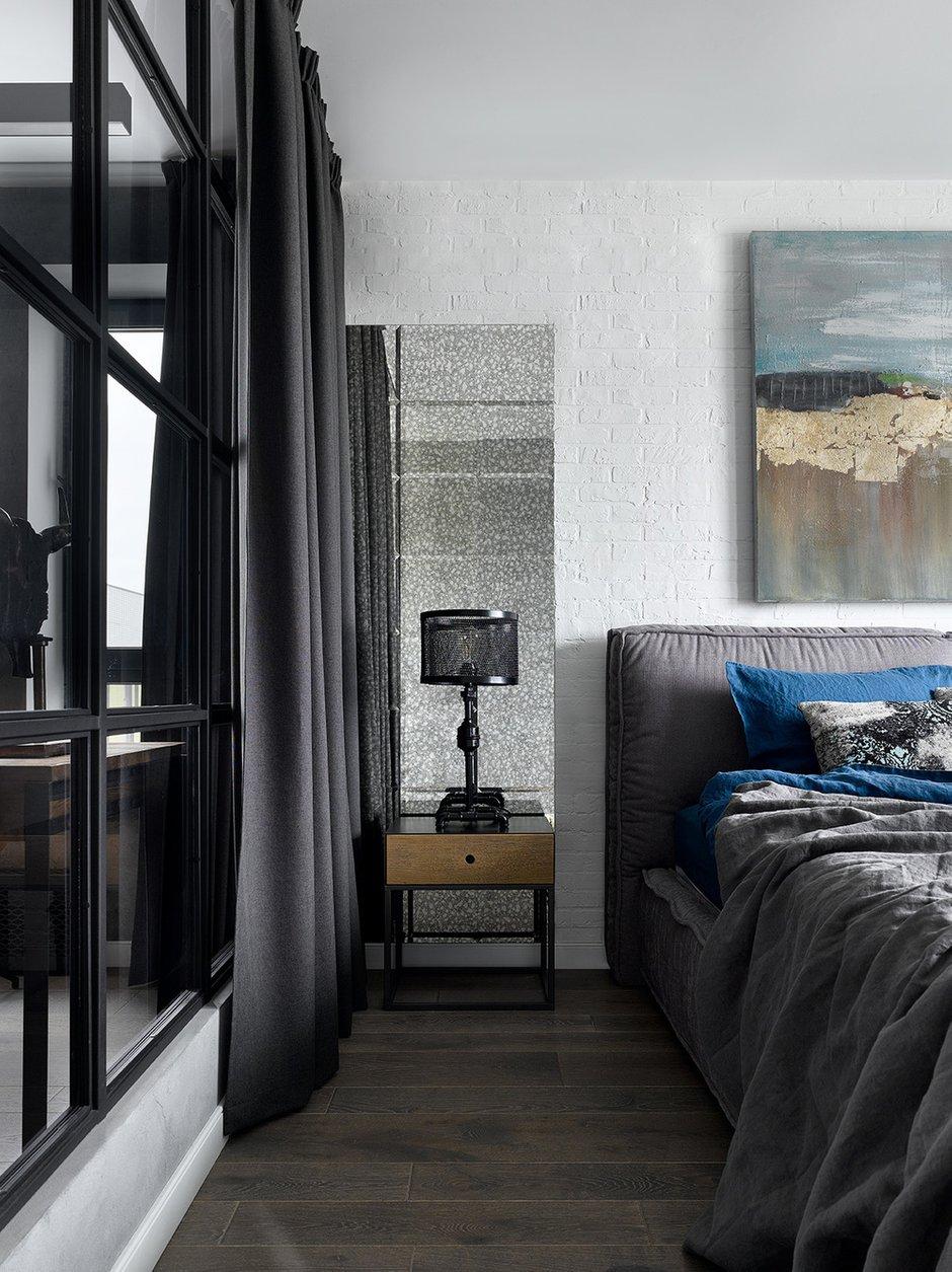 Фотография: Спальня в стиле Лофт, Квартира, Проект недели, Москва, 2 комнаты, 3 комнаты, 60-90 метров, Анастасия Уфимцева – фото на INMYROOM