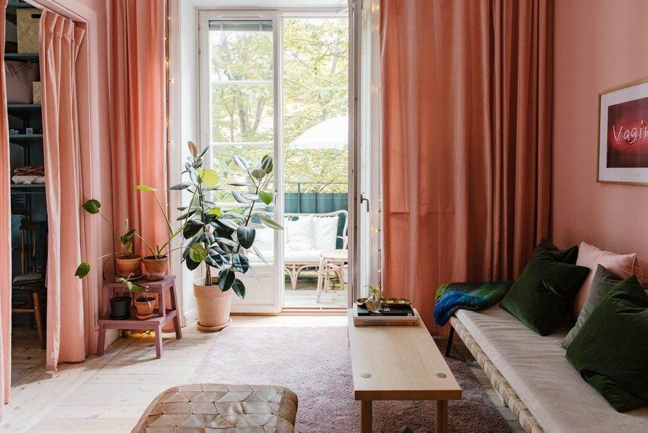Фотография: Гостиная в стиле Скандинавский, Малогабаритная квартира, Квартира, Швеция, Гид, дизайн-гид, малогабаритка, до 40 метров – фото на INMYROOM