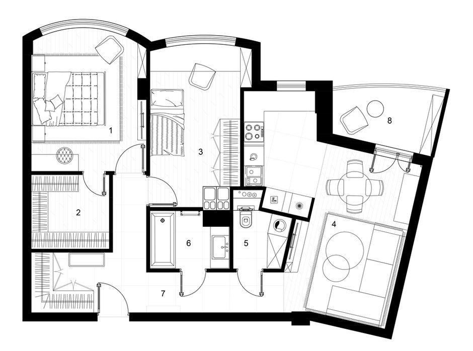 Фотография: Планировки в стиле , Современный, Квартира, Проект недели, Минск, 2 комнаты, 60-90 метров, Студия Blackdot – фото на INMYROOM