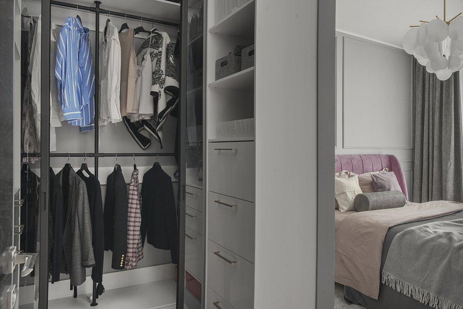 Фотография: Гардеробная в стиле Современный, Квартира, Проект недели, Москва, 3 комнаты, 60-90 метров, Balcon – фото на INMYROOM