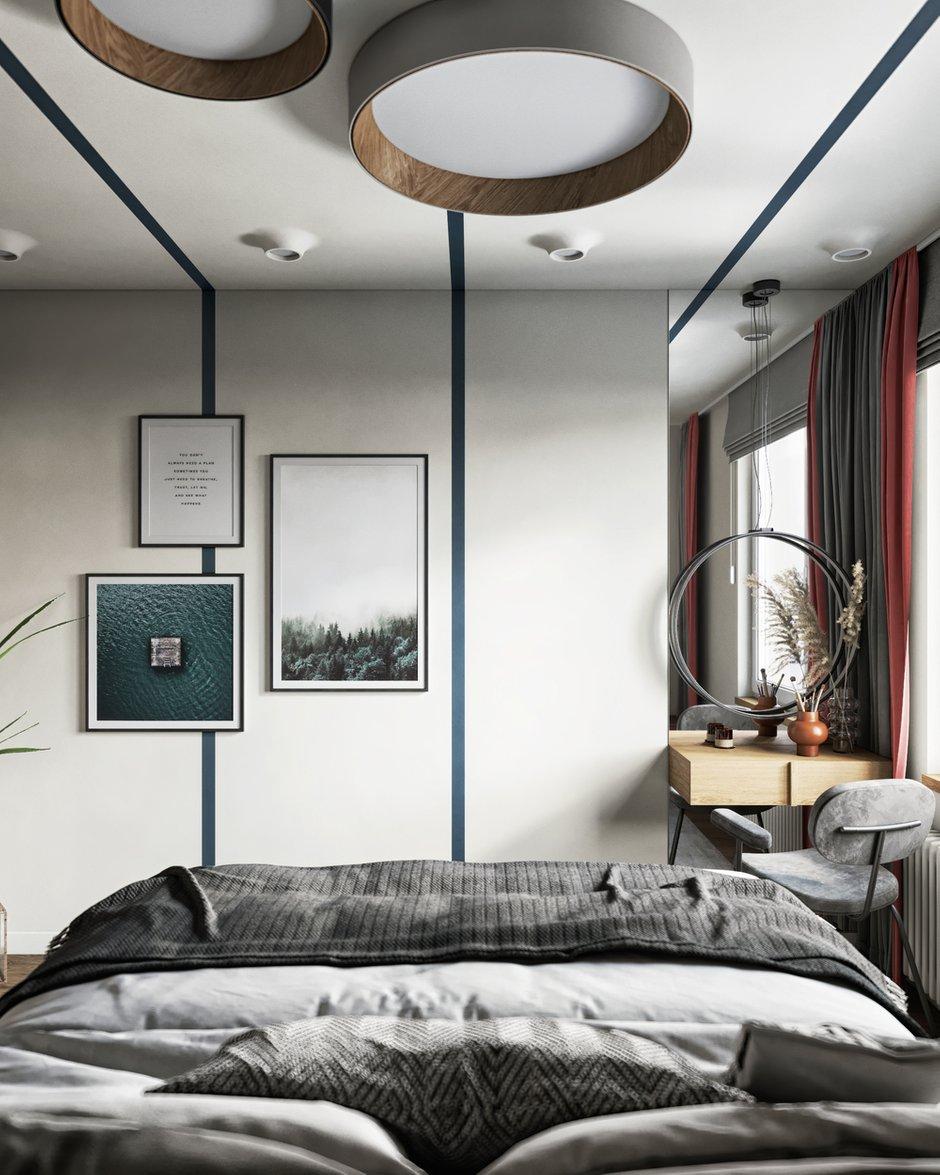 Фотография: Спальня в стиле Современный, Эклектика, Квартира, Проект недели, Санкт-Петербург, ToTaste Studio, 3 комнаты, 60-90 метров, Более 90 метров – фото на INMYROOM