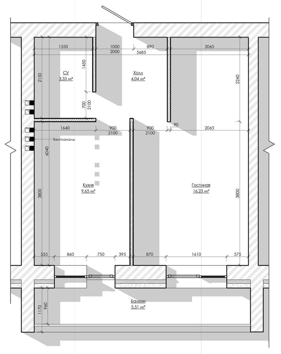 Фотография: Планировки в стиле , Скандинавский, Малогабаритная квартира, Квартира, Проект недели, Москва, Кирпичный дом, 1 комната, до 40 метров, Rerooms.ru – фото на INMYROOM