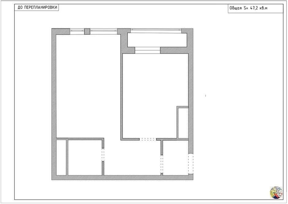 Фотография: Планировки в стиле , Современный, Квартира, Проект недели, Москва, Buro Brainstorm, 1 комната, 40-60 метров – фото на INMYROOM