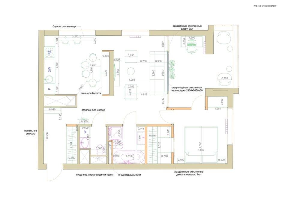 Фотография: Планировки в стиле , Современный, Квартира, Проект недели, 3 комнаты, 60-90 метров, Екатерина Уланова – фото на INMYROOM