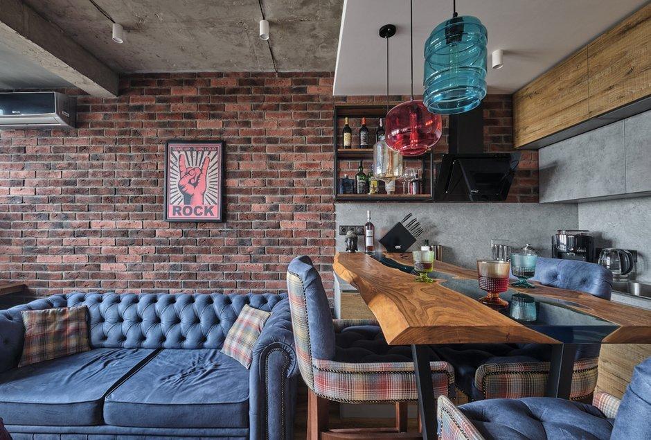 Фотография: Кухня и столовая в стиле Лофт, Эклектика, Квартира, Проект недели, Москва, 1 комната, 40-60 метров, студия «Особинка», Ксения Розанцева – фото на INMYROOM