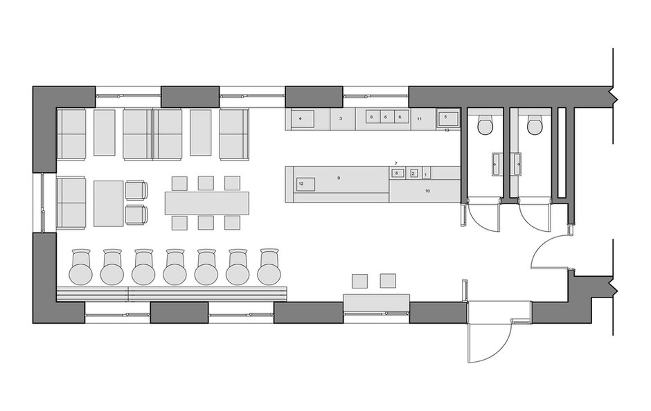 Фотография: Планировки в стиле , Проект недели, Москва, Ресторан, ID project – фото на INMYROOM