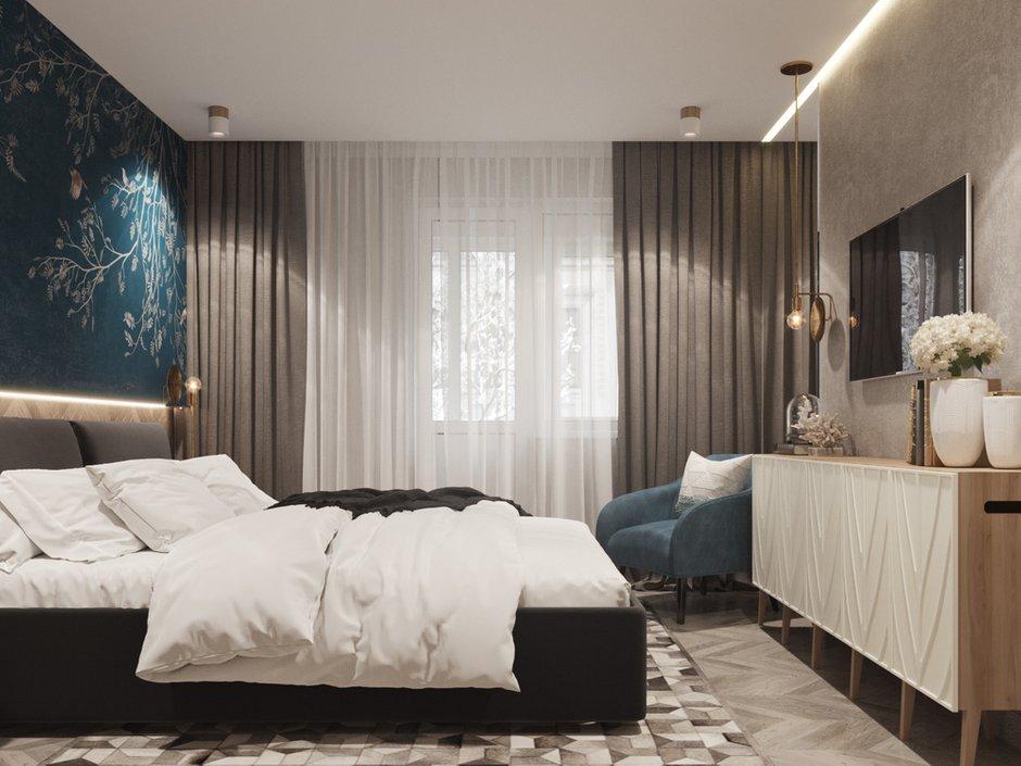 Фотография: Спальня в стиле Современный, Квартира, Проект недели, Москва, Юлия Чернова, Кирпичный дом, 3 комнаты, 60-90 метров – фото на INMYROOM