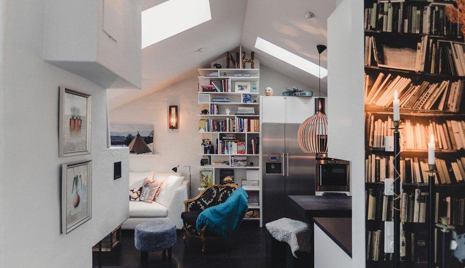 Фотография: Прихожая в стиле Скандинавский, Малогабаритная квартира, Квартира, Терраса, Дома и квартиры, Мансарда – фото на InMyRoom.ru