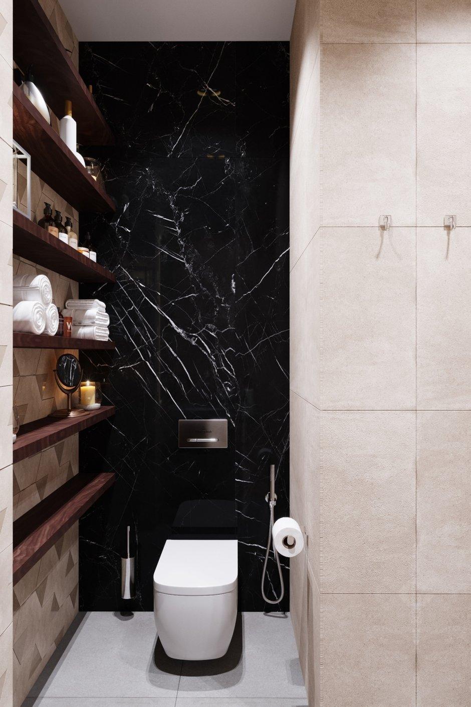 Фотография: Ванная в стиле Современный, Проект недели, Москва, Бежевый, Дарья Ельникова, 4 и больше, Более 90 метров – фото на INMYROOM