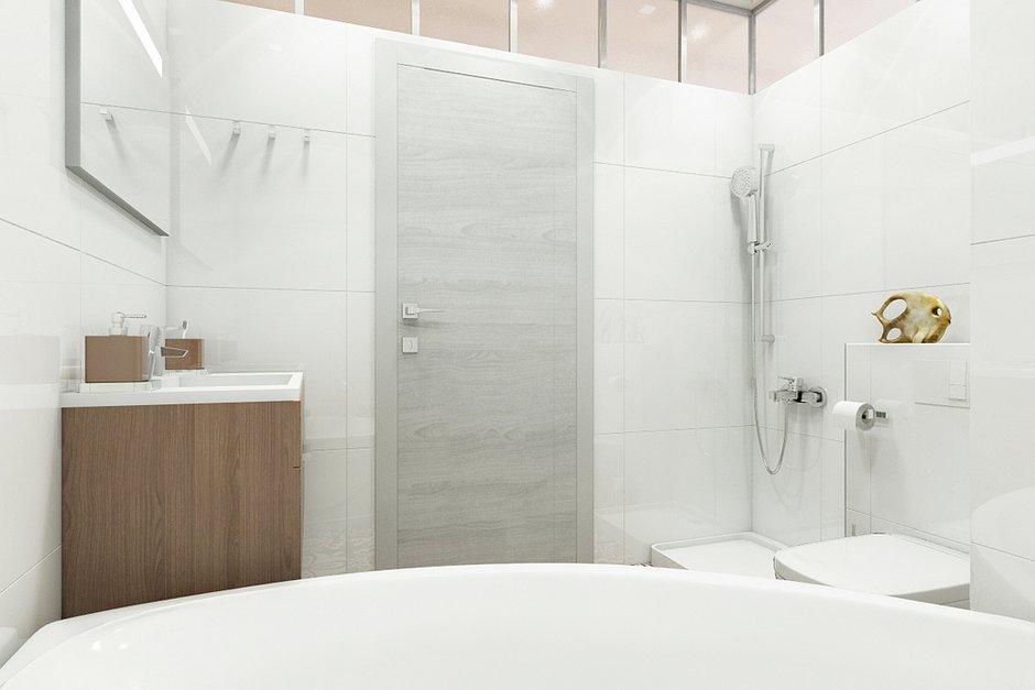 Фотография: Ванная в стиле Лофт, Современный, Эклектика, Квартира, Минимализм, Проект недели – фото на INMYROOM