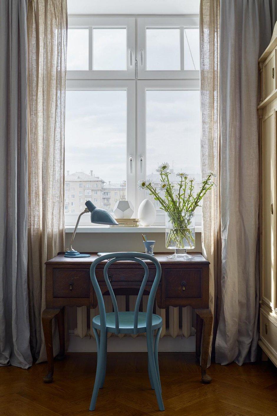 Фотография: Кабинет в стиле Прованс и Кантри, Проект недели, Москва, Сталинка, 3 комнаты, 60-90 метров, Инна Зольтманн – фото на INMYROOM