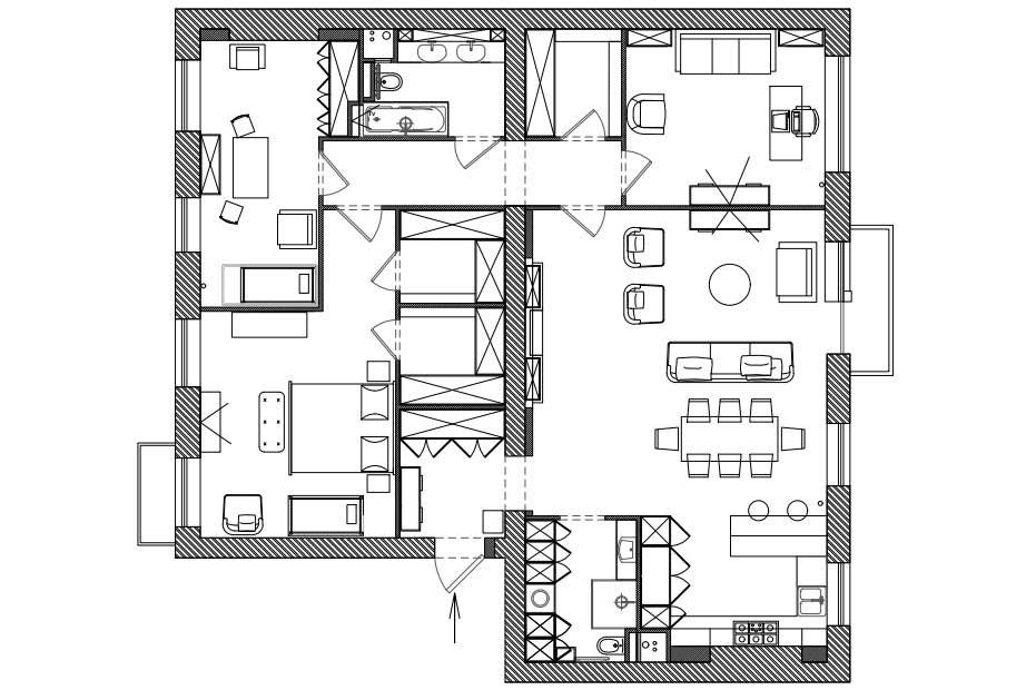 Фотография: Планировки в стиле , Квартира, Проект недели, Москва, Надя Зотова, Сталинка – фото на INMYROOM