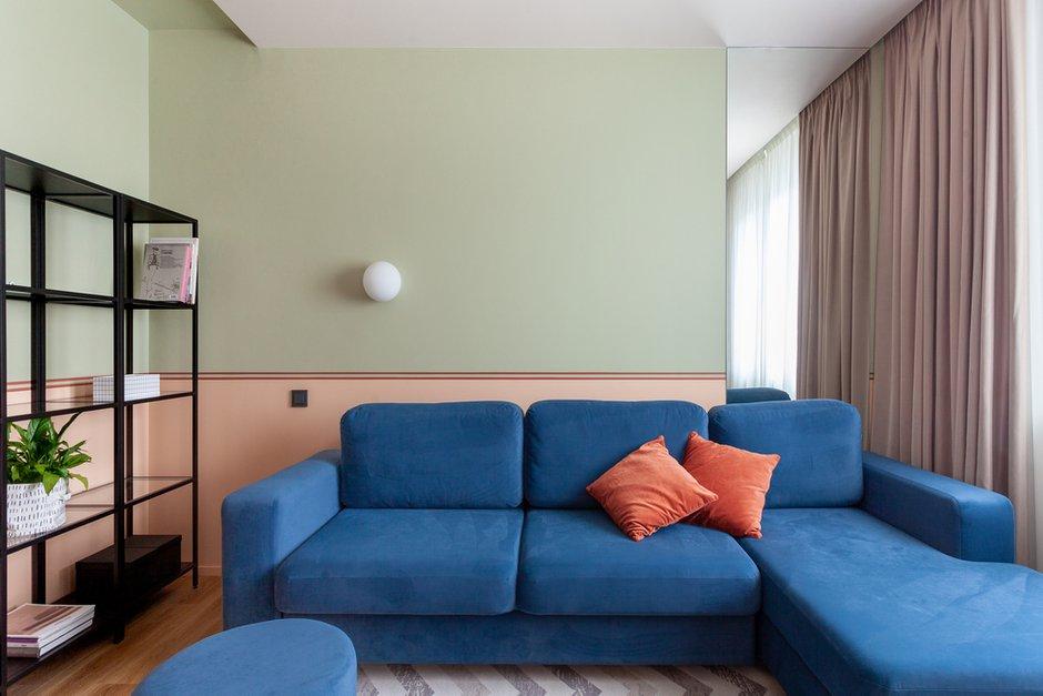 Фотография: Гостиная в стиле Современный, Квартира, Проект недели, Москва, 2 комнаты, 40-60 метров, КубКвадрат – фото на INMYROOM