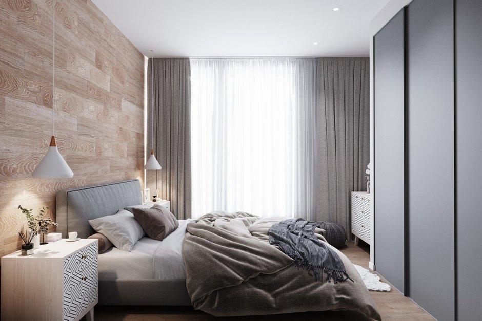 Фотография: Спальня в стиле Современный, Квартира, Проект недели, Москва, Дарья Ельникова, Монолитный дом, 3 комнаты, 60-90 метров – фото на INMYROOM