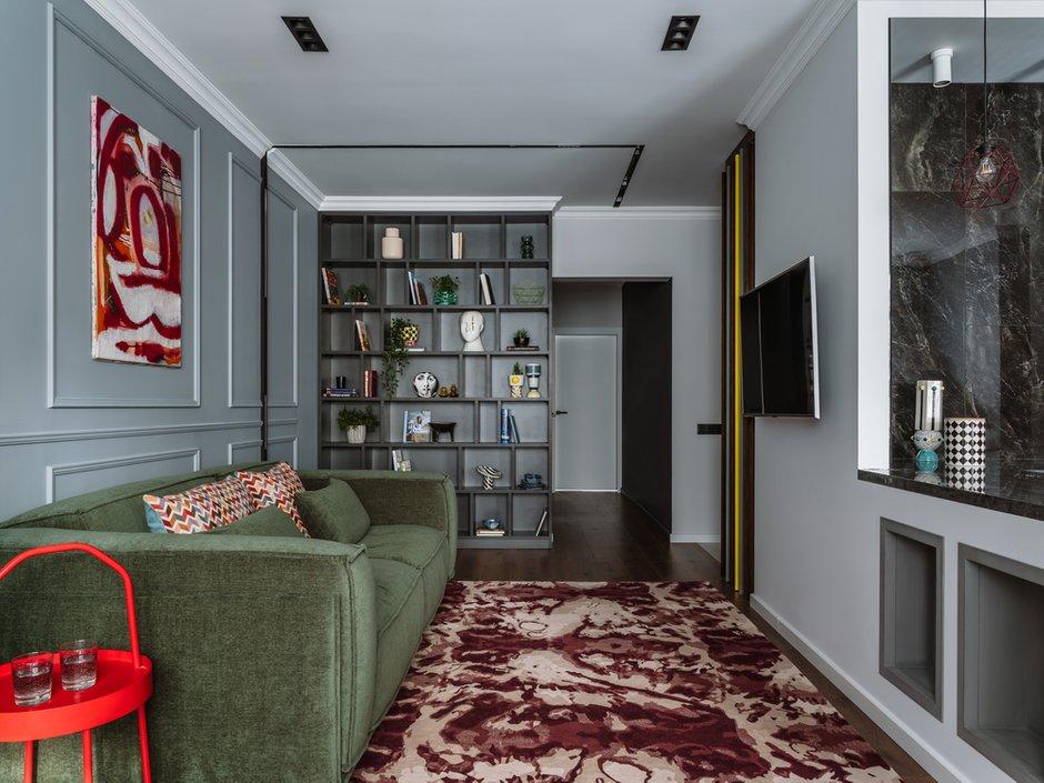 Фотография: Гостиная в стиле Современный, Квартира, Проект недели, 2 комнаты, 60-90 метров, Люберцы, Евгения Пестова – фото на INMYROOM