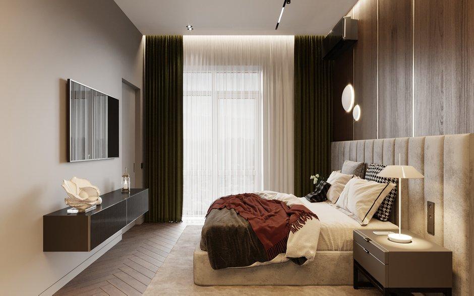 Фотография: Спальня в стиле Современный, Квартира, Проект недели, Москва, Монолитный дом, 2 комнаты, 40-60 метров, Руслан Просвирин – фото на INMYROOM