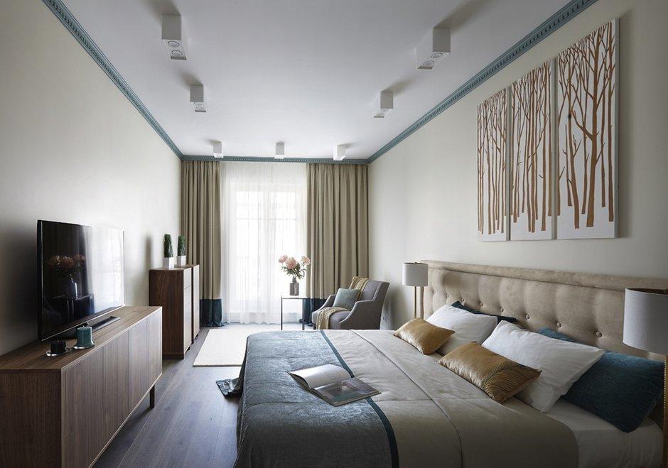 Фотография: Спальня в стиле Современный, Квартира, Проект недели, Москва, новостройка, Дизайн в кубе, ЖК Английский квартал, 3 комнаты, Более 90 метров – фото на INMYROOM
