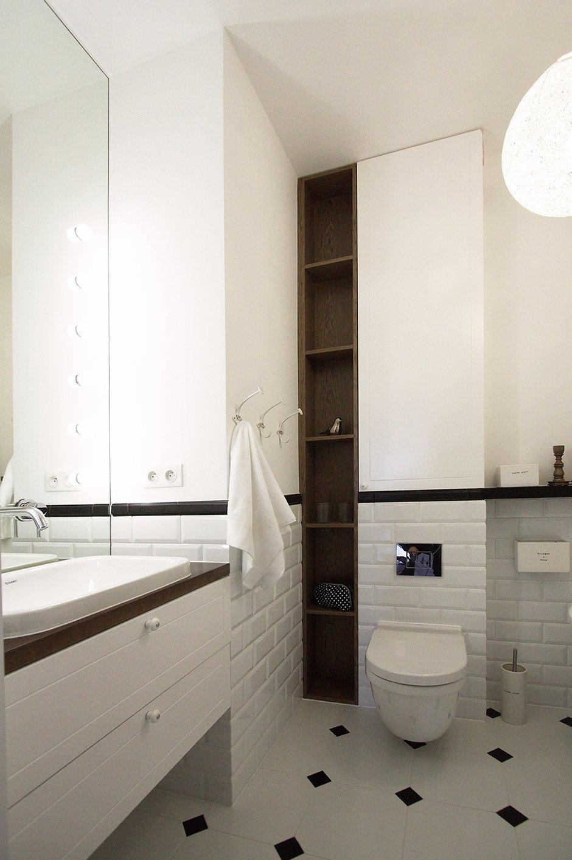 Фотография: Ванная в стиле Современный, Скандинавский, Квартира, Цвет в интерьере, Дома и квартиры, Перепланировка – фото на INMYROOM