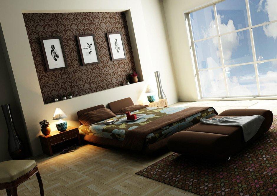 Фотография: Спальня в стиле Современный, Декор интерьера, Интерьер комнат, Цвет в интерьере, Коричневый – фото на INMYROOM