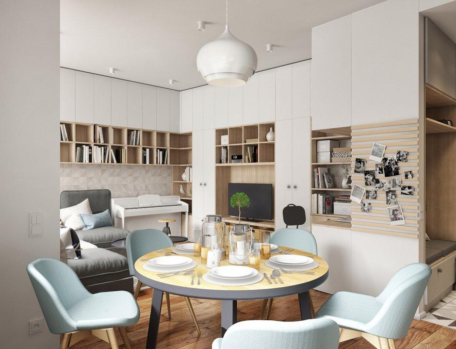 Фотография: Кухня и столовая в стиле Современный, Квартира, Проект недели, Санкт-Петербург, Более 90 метров, Projector Studio – фото на INMYROOM