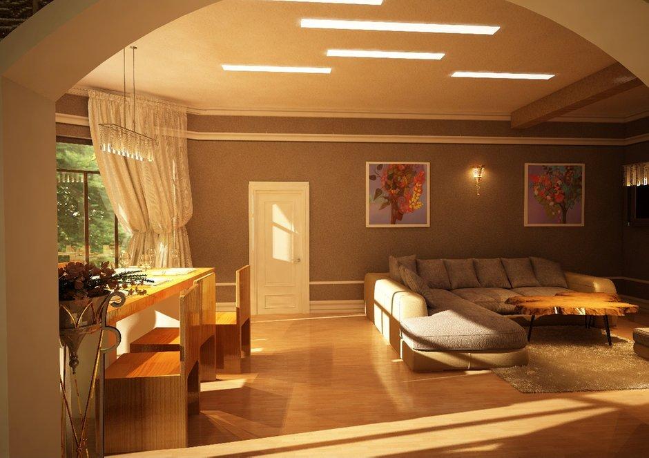 Фотография: Гостиная в стиле Эклектика, Дом, Дома и квартиры, Проект недели, Современное искусство – фото на INMYROOM