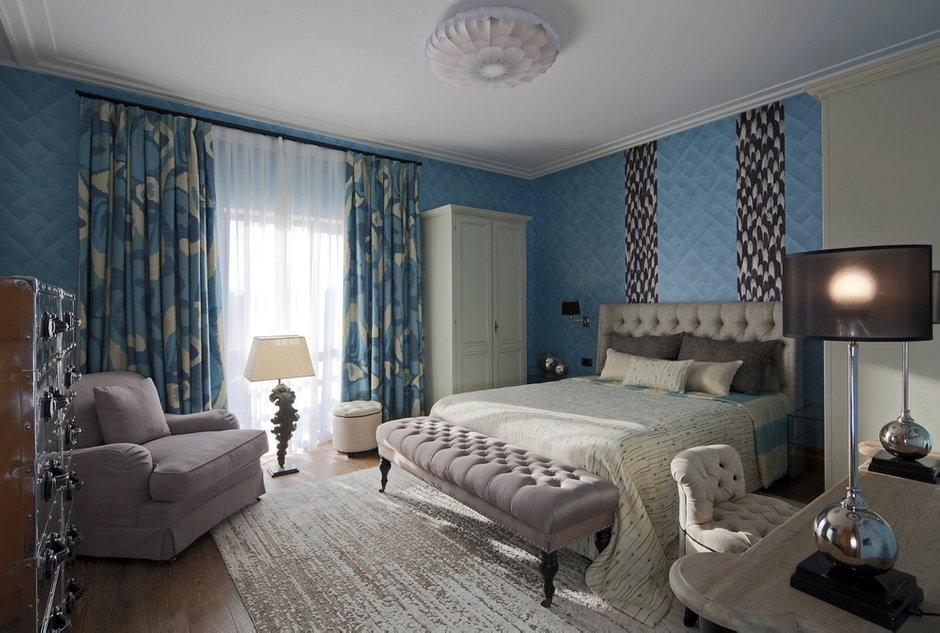 Фотография: Спальня в стиле Эклектика, Дом, Проект недели, Подмосковье – фото на INMYROOM